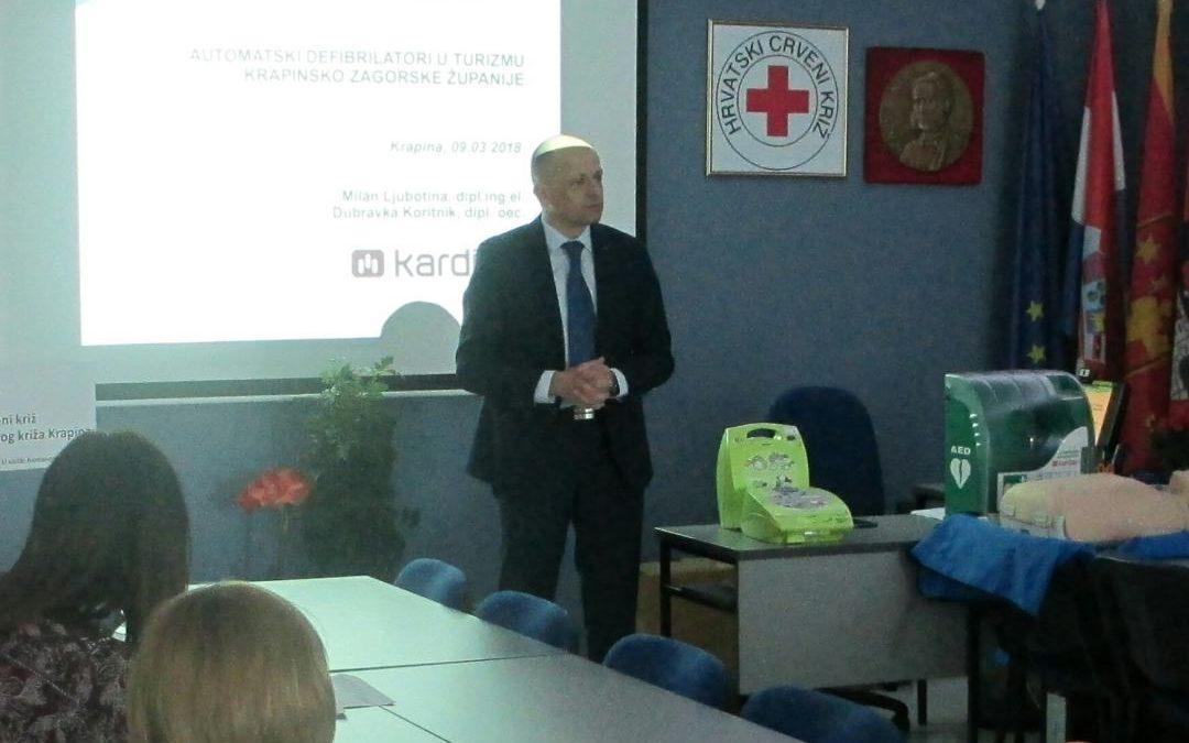 Gradsko društvo Crvenog križa Krapina pomaže turističkom sektoru u dobivanju sredstava za automatske defibrilatore